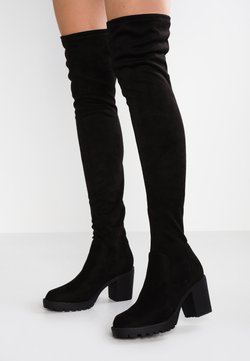 ONLY SHOES - ONLBARBARA LONG SHAFT - Muszkieterki - black