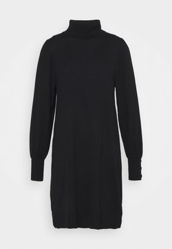 Wallis - ROLL NECK SWING DRESS - Strickkleid - black