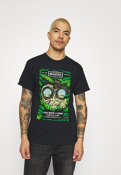 Brixton - BROOKLYN BROADCAST GARMENT DYE - T-shirt z nadrukiem - black
