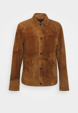 Denham - WINSTON SUEDE JACKET - Skinnjacka - rubber brown