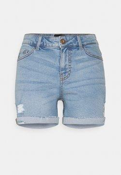 Pieces - PCLISA DESTROY - Jeans Shorts - light blue denim