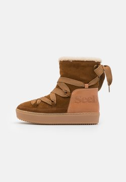 See by Chloé - Plateaustiefelette - light brown