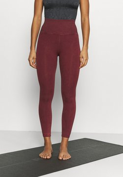 Free People - GOOD KARMA LEGGING - Tights - wine
