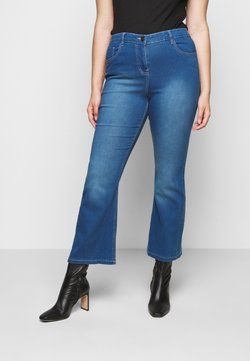 CAPSULE by Simply Be - KIM HIGH WAIST SUPER SOFT BOOTCUT - Bootcut jeans - blue