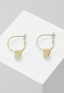 SNÖ of Sweden - PENNY COIN ROUND EAR PLAIN - Kolczyki - gold-coloured