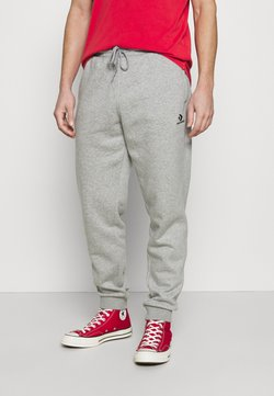 Converse - MENS EMBROIDERED STAR CHEVRON PANT - Jogginghose - mottled grey