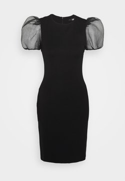 KARL LAGERFELD - SLEEVE PUNTO DRESS - Cocktailkleid/festliches Kleid - black