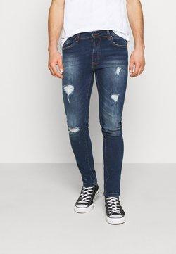 Denim Project - MR RED - Jeans Skinny Fit - dark blue destroy