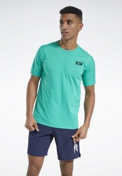Reebok - SPEEDWICK GRAPHIC MOVE T-SHIRT - T-Shirt print - green