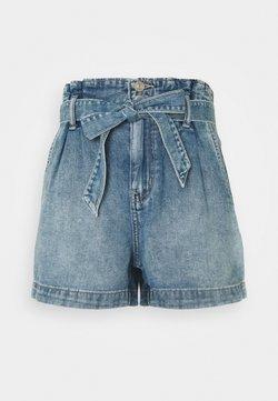 American Eagle - PAPERBAG MOM - Denim shorts - medium vintage wash