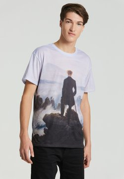 Mr. GUGU & Miss GO - WANDERER ABOVE THE SEA OF FOG - T-shirt print - blue