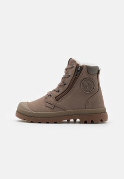 Palladium - PAMPA HI CUFF UNISEX  - Bottines à lacets - taupe/grey