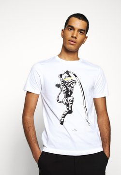 PS Paul Smith - MENS SLIM FIT VAULT ZEBRA - T-Shirt print - white