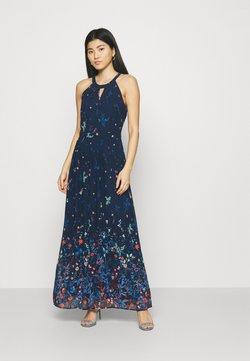 Esprit Collection - PRINT FLOWER - Vestido largo - navy