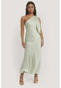 NA-KD - ONE SHULDER SATIN - Cocktailkleid/festliches Kleid - mint