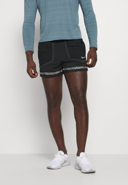 Nike Performance - STRIDE - Sports shorts - black/dk smoke grey/reflective silver