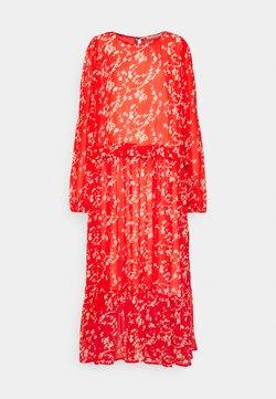 Love Copenhagen - BUGA DRESS - Maxikleid - tomato red/white