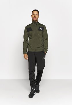 Puma - TECHSTRIPE TRICOT SUIT - Treningsdress - forest green