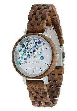 LAIMER - LAIMER QUARZ HOLZUHR - ANALOGE ARMBANDUHR CAPRI WALNUSS - Uhr - brown