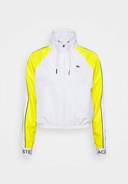 Lacoste Sport - TRACKJACKET - Veste de survêtement - white/palm green/pineapple/navy blue