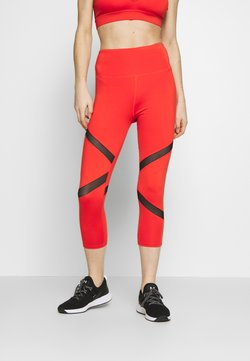 Wolf & Whistle - EXCLUSIVE CROPPED PANEL LEGGINGS - Trikoot - red
