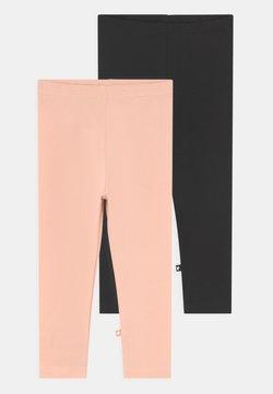 Molo - NETTE 2 PACK - Leggings - black/rose