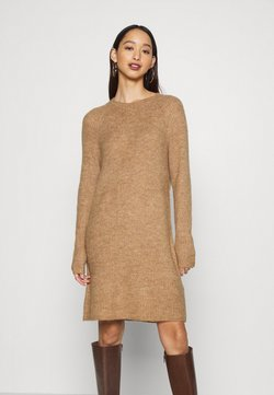 ONLY - ONYSALLIE DRESS - Gebreide jurk - tan
