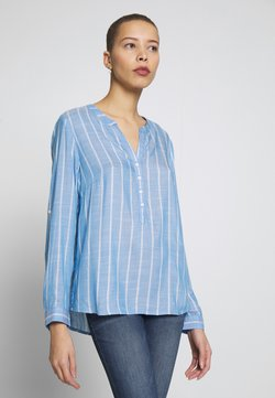TOM TAILOR - STRUCTURED BLOUSE - Bluse - blue