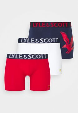 Lyle & Scott - OLIVER 3 PACK - Onderbroeken - barbados cherry/peacoat/bright white