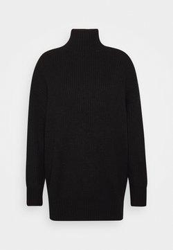 Missguided Petite - PREMIUM BOYFRIEND ROLL NECK DRESS - Robe pull - black