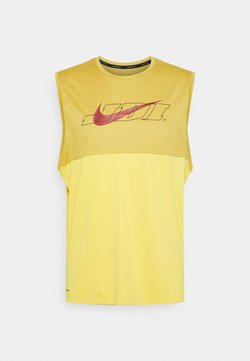 Nike Performance - TANK DRY ENERGY - Funktionströja - solar flare/wheat/heather/dark cayenne