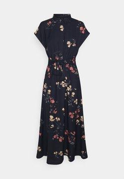 Vero Moda - VMHALLIE LONG TIE DRESS - Blusenkleid - night sky/hallie