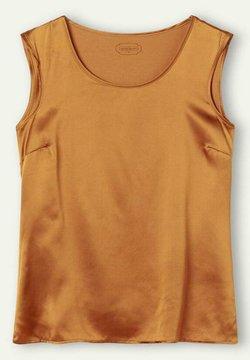 Intimissimi - RUNDHALS-TOP MIT BREITEN SCHULTERN AUS SEIDE UND MODAL - Nachtwäsche Shirt - orange  amber