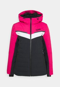 Colmar - LADIES SKI JACKET - Kurtka narciarska - black/frozen berry/white