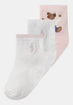 Polo Ralph Lauren - BEAR CREW 3 PACK - Strumpor - pink/white