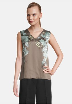 Betty & Co - OHNE ARM - Bluse - green/white