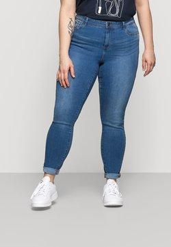 Vero Moda Curve - VMTANYA MRS PIPING  - Skinny-Farkut - medium blue denim
