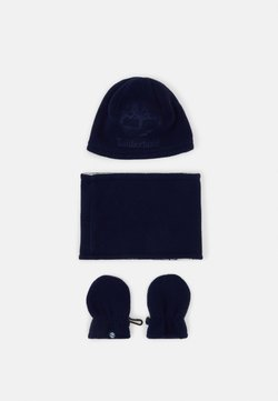 Timberland - PULL ON HAT SNOOD MITTENS BABY SET UNISEX - Pipo - navy
