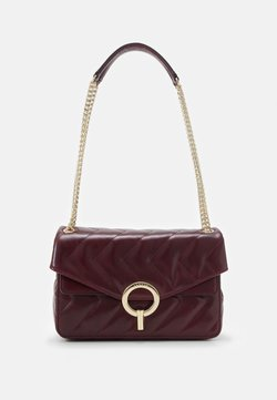 sandro - QUILTED CHAIN SHOULDER BAG - Torebka - bordeaux