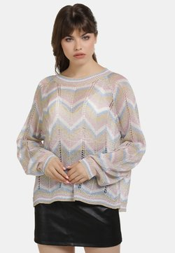 myMo at night - Strickpullover - multicolor gestreift