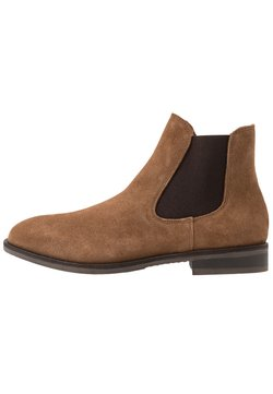 Selected Homme - SLHLOUIS CHELSEA BOOT - Stiefelette - cognac