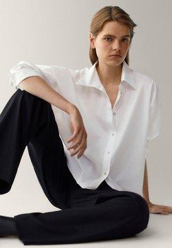 Massimo Dutti - POPELIN - Skjorta - white