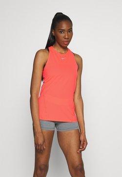 Nike Performance - TANK ALL OVER  - Sports shirt - bright mango/white