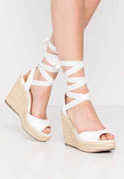 New Look - PADY TIE UP WEDGE - Sandaletter - white