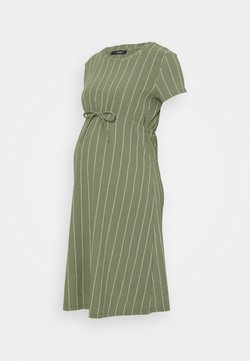 Supermom - DRESS STRIPE - Jerseykleid - dusty olive