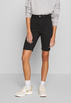 Missguided - LONGER LENGTH STRETCH FIT CYCLING - Jeansshort - black