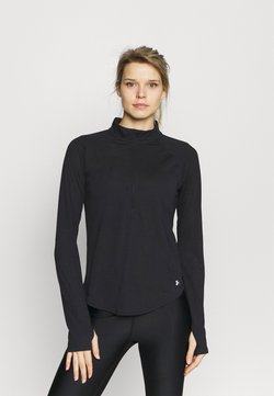 Under Armour - STREAKER HALF ZIP - Langarmshirt - black