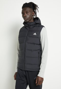 adidas Performance - HELIONIC HOODED DOWN VEST - Chaleco - black
