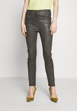 Citizens of Humanity - HARLOW ANKLE - Pantalon en cuir - pewter