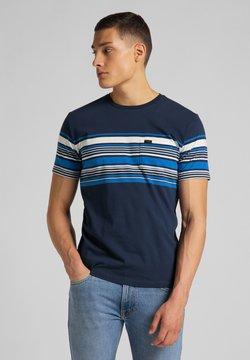 Lee - STRIPY PKT - T-Shirt print - navy
